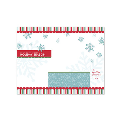 Snowflake Flurry Trifold Card