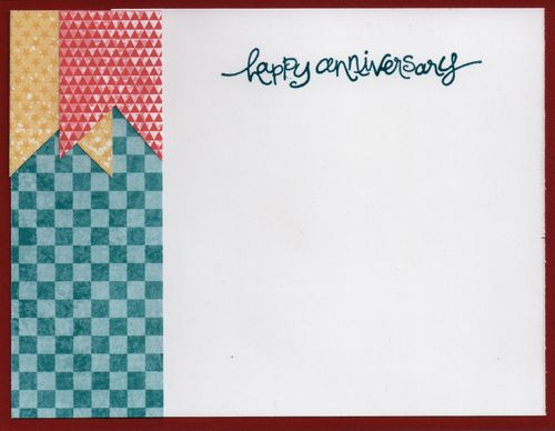 2013 Anniversary Card, Sentiment