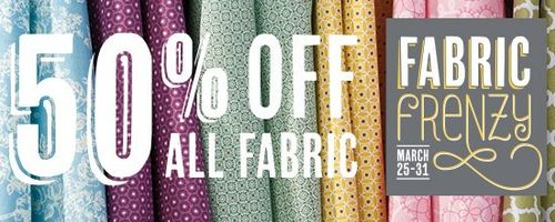50% Off Fabric Frenzy